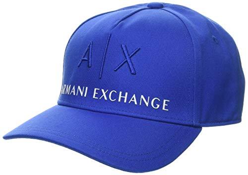 Armani Exchange Herren Logo Baseball Cap, Blau (True Blue-True Blue 03539), (Herstellergröße: One Size)