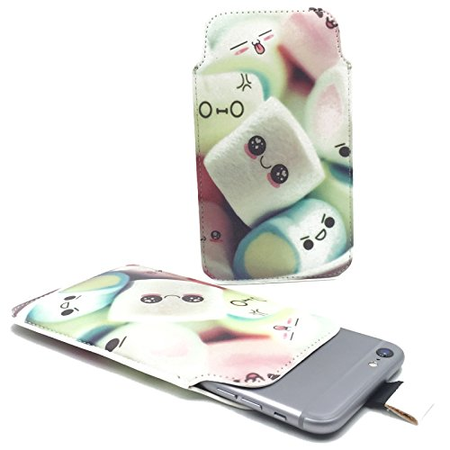 Handy Hülle Slide Tasche Etui Case Schutzhülle Bumper Cover Sleeve Universal Neu, Motive:Marshmallows, Handymodell:Gionee Ctrl V5