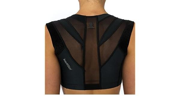 faa9e1c68c87b IntelliSkin Women s Empower Posturecue Sports Bra M Black