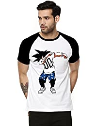 Fanideaz Cotton Hipster GOKU DBZ Half Sleeve Raglan T Shirt For Men