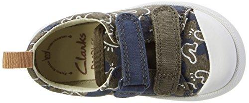 Clarks Baby Jungen Halcy High Fst Lauflernschuhe Grün (khaki Canvas)
