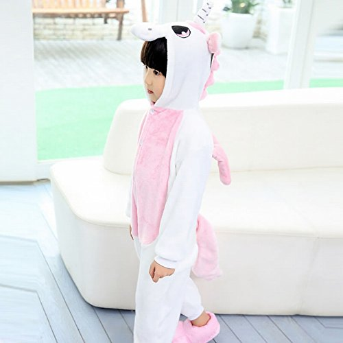 annel Animal Novelty Costumes Cosplay Pajamas Role-Playing Halloween Play Clothes Unicorn,Pink,M (Tier Kostüme Für Tweens)