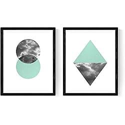 Set de 2 láminas para enmarcar REFLEJO