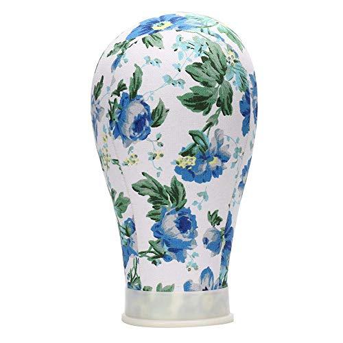 Leinwand Schaufensterpuppe Kopf Perücke Ständer, Haar Styling Praxis Schaufensterpuppe Kopf Perücke Display Halter (21 '' / 22 '' / 23 '' / 24 '')(24inch-Blau) -