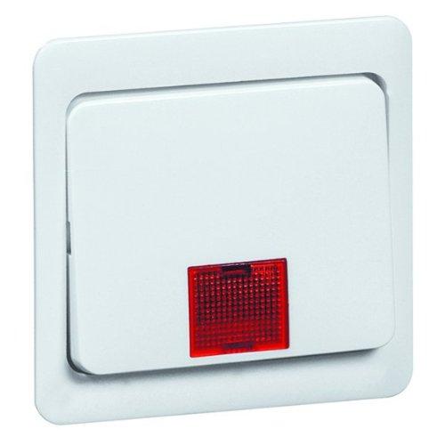 Peha 00166011 Standart Wippe 58 x 49 mm mit großer roter Linse, für Wechsel-, Kreuzschalter und Taster neutral, reinweiß -