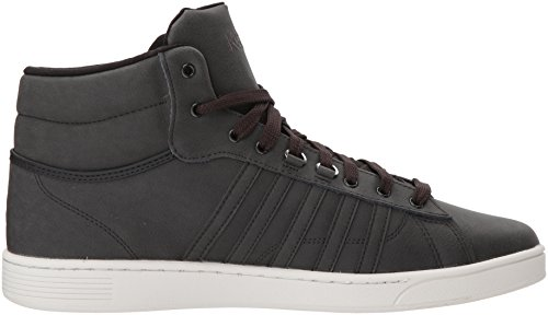 K-Swiss Hoke Mid CMF, Sneakers Basses Homme Gris (Raven/cloud Dancer)