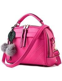 New Pu Leather Women Leather Handbag Hairball Women Messenger Bags Pouch Shoulder Crossbody Bags