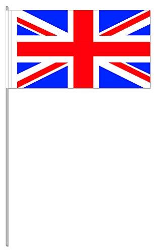 10 Fähnchen * GROSSBRITANNIEN * als Deko für Mottoparty oder Länder-Party // Flaggen Fahnen Papierfahnen flag uk union jack england