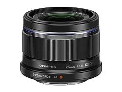 Olympus M.Zuiko Digital 25mm F1.8 Objektiv (lichtstarke Festbrennweite, geeignet für alle MFT-Kameras, Olympus OM-D und PEN Modelle, Panasonic G-Serie) schwarz