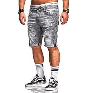 Rello & Reese Herren Destroy Designer Shorts Jeans Kurze Hose Sommer Bermuda