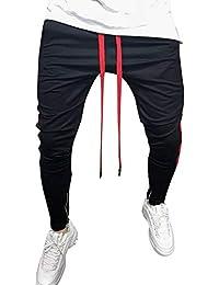 FRAUIT M/änner Hose Herren Jogginghose Freizeit Sport Hose Sport Gestreifte Baggy Pockets Streifen Pants Slim Fit Freitzeithose Sweatpants Chino Cargo Hosen M-3XL 100/% Baumwolle