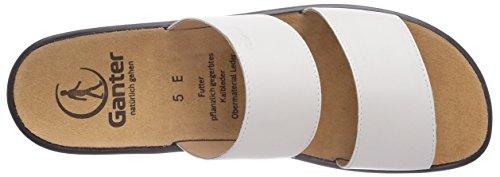 Ganter - Sonnica, Weite E, Pantofole A Casa da donna bianco (Weiß (weiss 0200))