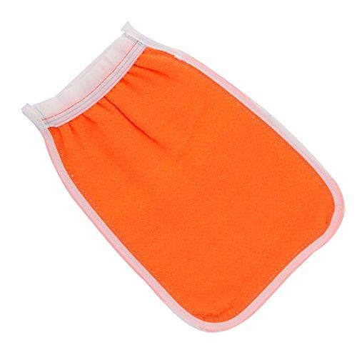 sourcingmap Haus Badezimmer Nylon elastischen Manschette Doppel Seite Körper Badewanne Dusche Peeling Handschuh (Doppel-manschette-handschuhe)