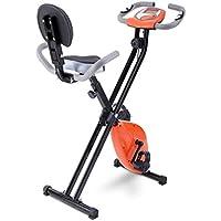 Fitodo Ejercitador inmóvil Vertical Plegable de la Bici magnética con Altura Ajustable y Nivel de la
