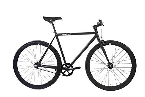 FabricBike- Vélo Fixie Noir, Fixed Gear, Single Speed, Cadre Hi-Ten Acier, 10Kg (M-53, Fully Matte...