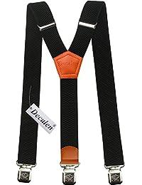 Hosenträger für Herren breit extra starken 4 cm mit 3er Clips Y-Form lange für Männer und Damen Hose alle Farben
