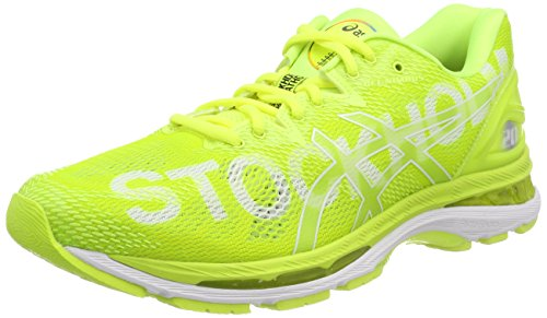 Asics Gel-Nimbus 20 Stockholm Marathon, Zapatillas de Running Para Hombre, Amarillo (Stockholm/2018/Flash Yellow 0707), 43.5 EU
