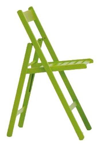 4 sillas plegables, color verde