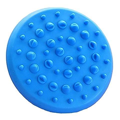 Rechoo Soft Anti Cellulite Appareil Massager Gant de brosse Minceur Relaxant Scrub Bath Spa Home Soft Body Massager Brush Spa Tool pour la Brosse pour la Cellulite Relaxante Bleu