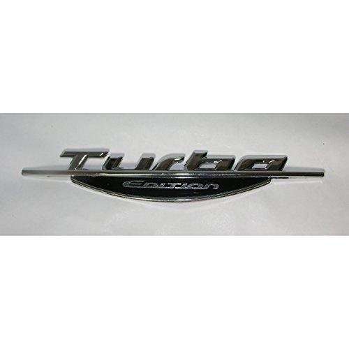 1a-becker 3D Autoaufkleber Turbo Edition Schriftzug Emblem Logo Heckaufkleber Chrom Silber