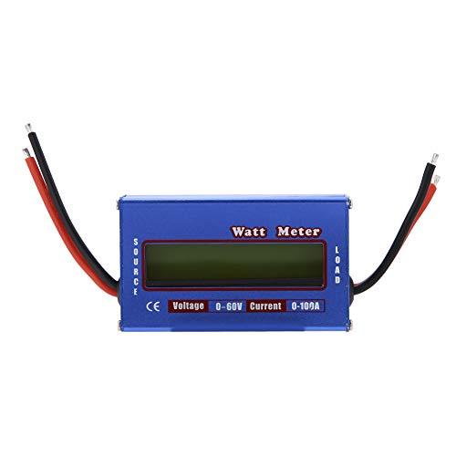 Digital Wattmeter, DC 60V / 100A Hochpräzise Leistungsmesser Power Analyzer mit LCD Hintergrundbeleuchtung -