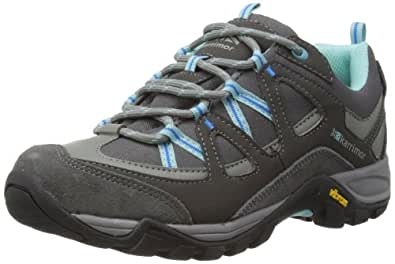 Karrimor Womens Solva Low Ladies Trekking and Hiking Shoes K695 Black Sea/Aqua 6 UK, 39 EU