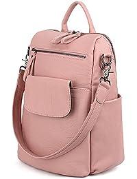 73e6bfec26 UTO Women Backpack 3 Way PU Leather Ladies Girls Rucksack Shoulder Travel  School Bags