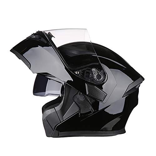 CxiaoZks Casco da Moto Integrale Casco Professionale per Moto da Discesa in Discesa Fodera Rimovibile Comfort Cappucci di Protezione da Corsa Nero,XXL