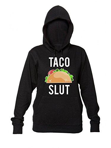 Finest Prints Taco Slut Delicious Taco Kapuzenpulli für Damen Small Junk-food-print-pullover