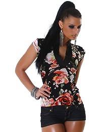 JELA London - T-shirt - À Fleurs - Manches Courtes - Femme