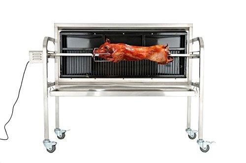 CLP Barbecue Électrique BARNY | Rôtissoire Verticale avec Plusieurs Accessoires et Fonctions | Surface d'Embrochage 101 cm,...