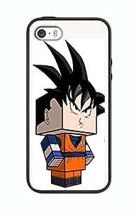 Dragonball Z Schutzhülle, Motiv Hit Schutzhülle für Iphone 5/5s, DB25 @pattayamart Grenze-Gummi Silikonhülle schwarz