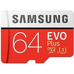 Samsung 64GB EVO Plus Class 10micro SDHC con adattatore (mb-mc64ga/AM)