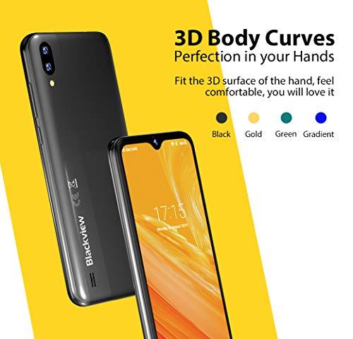 Mobile Phone, Blackview A60 SIM-Free Smartphone Unlocked, 6.1-Inch IPS Full-Screen, 16GB Dual SIM Android 8.1 Unlocked Mobile Phone, 4080mAh Battery, 5MP+13MP Dual Camera, UK Version - Black Img 3 Zoom