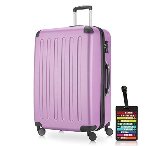 Capitale-Valigia da viaggio XL · Valigetta rigida · opaco o lucido + Valigia tracolla, Magenta (rosa) - HK_128_MG_G