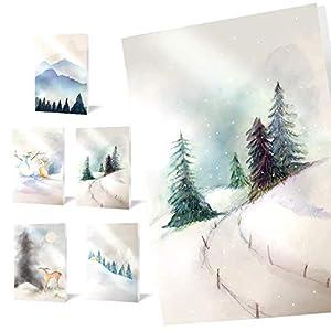 """Tarjetas de Felicitación Navideñas Unicef""""Snowy"""