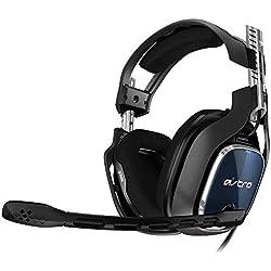 ASTRO Gaming - 939-001664 - A40 TR 4e Génération, Casque PC Filaire, également Compatible Mac, PS4, Xbox One, Switch - Noir/Bleu