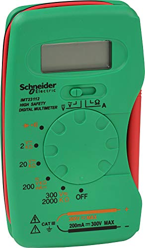 Schneider Electric sc5imt23212 multímetro digital de bolsillo Cat III 300 V, Verde