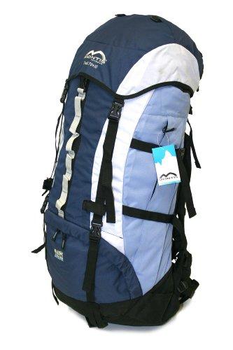 MONTIS TREK 70+10 Trekking-Rucksack, Wander-Rucksack & Reise-Rucksack in einem, ermöglicht dank Regenschutz auch Kletter- & Campingtouren, im Militär-Rucksack Look mit viel Extras & Belüftungssystem (Trek Fahrrad Damen)