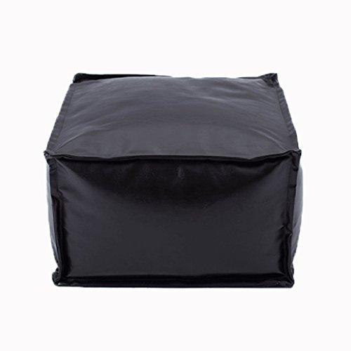 Style américain unique canapé sac pouf chambre salon bureau chaise longue chaise en cuir PU (Couleur : Marron foncé)