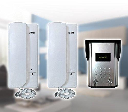 MEDIA WAVE store Citofono bifamiliare intercom doorbell cablaggio a 4 fili con 3 unità