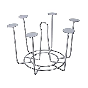 SARANGWARE Stainless Steel Glass Stand/Glass Holder for Kitchen/Dining Table (Silver, 10 inches)