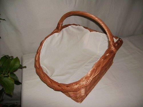 Panier à bûches en osier modèle très solide-couleur : marron