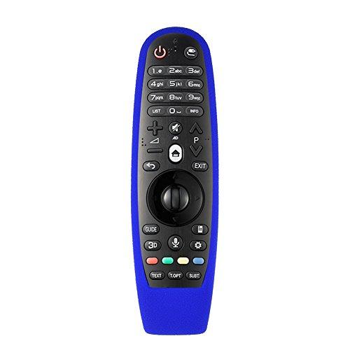 Richer-R LG Hülle für Fernbedienung Weiche Silikon Gummi Staubdicht Schutzhülle für LG AN-MR600 TV Fernbedienung Full Cover, blau Dish Tv
