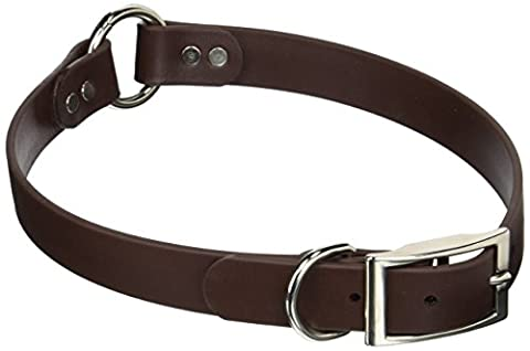 Mendota Products DuraSoft Hunt Dog Collar, 1 by 24-Inch, Brown