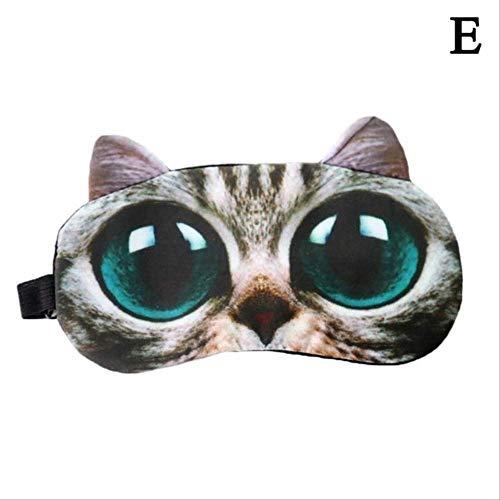 Máscara de Ojos para niños dormidos, Lindo Gato Perro Dormir máscara de Ojos, Natural Sleeping Eye Parche Suave portátil Viaje Eyepatch, máscara para los Ojos para Hombres, Mujeres y niños 5