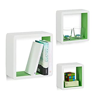 Relaxdays Wandregal Cube 3er Set, Quadratische MDF Wandboards, Belastbare  Dekoregale Für Das Wohnzimmer,