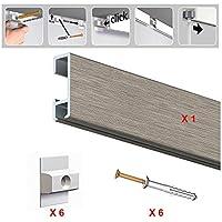 Pack 10/Haken Farbe vernickelt Galerie f/ür Holz Bilderschiene/ /Belastung 12,5/kg