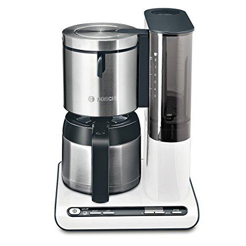 Bosch TKA8651 Cafetière Isotherme 1100 W Blanc / Inox