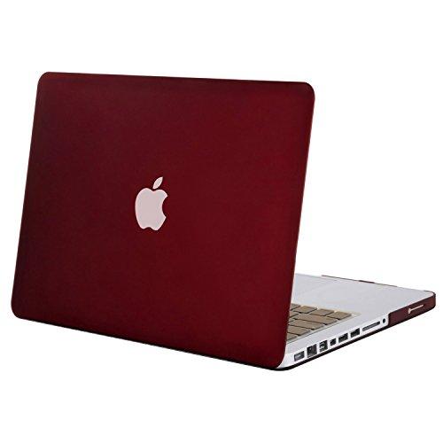 MOSISO Funda Dura Compatible Old MacBook Pro 13 Pulgadas con CD-ROM A1278 (Versión 2012/2011/2010/2009/2008), Carcasa Rígida Protector de Plástico Cubierta, Rojo Marsala